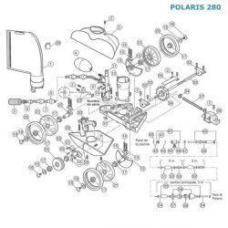 Couvercle turbine + coude 90° Polaris 280